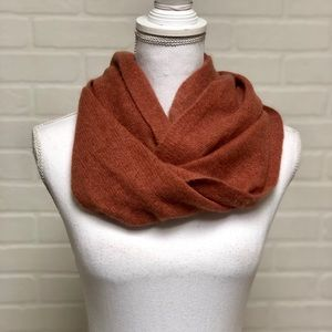Max Studio Cashmere Infinity Scarf Rust Brown